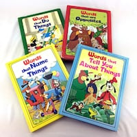 Lot 4 Walt Disney Words Books Complete Set Vintage 1976 First Edition Hardcover Port Colborne