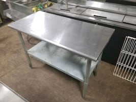 Stainless Steel Restaurant Table Work Table Utility Table Commercial