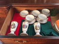 5 French tea cups Collector French china Guelph, N1H 1X3