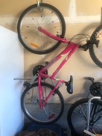 Teen pink mountain bike