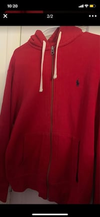 Polo red zip up jacket