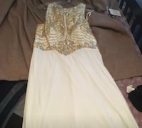 White And Gold Prom Dress Hope Mills, 28348