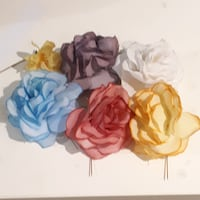 Lot 6 Vintage Silk Flower Stick Pins TORONTO