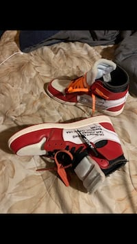 pair of red-and-white Nike basketball shoes Upper Marlboro, 20774
