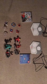Disney infinity 1 and 2 with assorted characters, two game lads, and assorted boosts Hollister, 95023