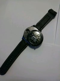 round black chronograph watch with black leather strap Baltimore, 21212