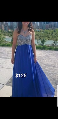 Still need a Grad Dress... Blue jeweled, size 4 Calgary, T2W 0E7