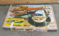 1982 TYCO slot car track COMPLETE. 2 in 1 Racing r Orange, 92866