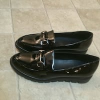 pair of black leather loafers, Sz10 Garland, 75042