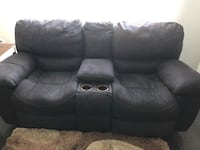 black leather home theater sofa Rockville, 20852