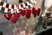 Red Drink Glasses  Spring Hill