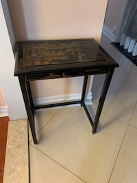 Chinese decor table black& gold  lacquer