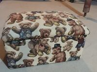 Teddy Bear Toy Chest With Fabric Covering