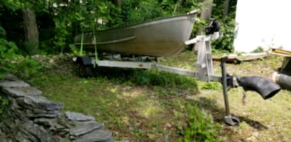 12 foot aluminum boat with trailer