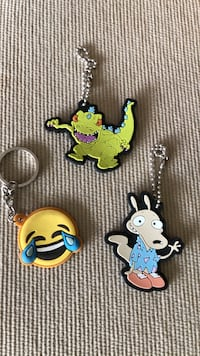 assorted keychains.