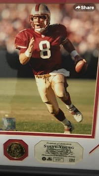 SF 49er Steve Young Framed Frederick, 21702