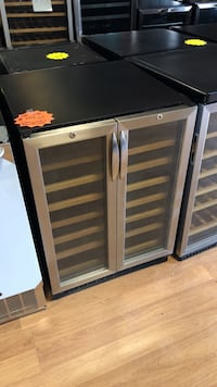 Stainless steel built in two zone wine cooler with warranty