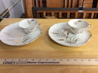 two white china plates and cups Albuquerque, 87112