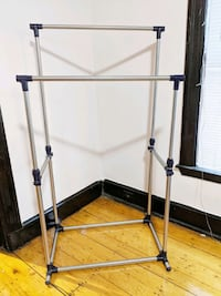 Two rows clothing rack