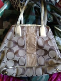 brown and gray Coach monogram tote bag San Diego, 92196