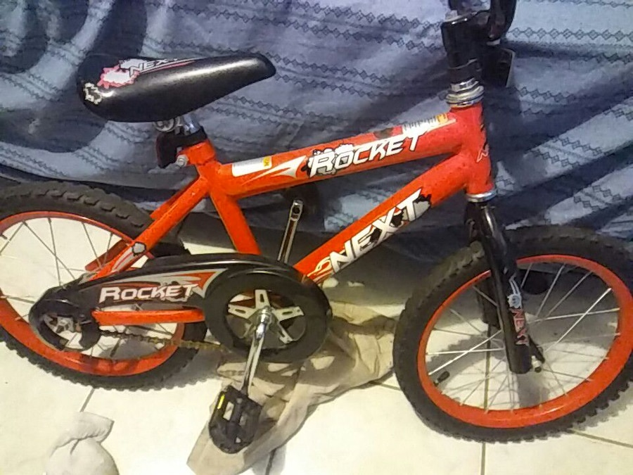 red and black Next Rocket bicycle