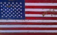 American Flag ( Rustic & Weathered ) Montgomery
