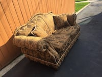 "2 seater couch in good condition. Fabric print.32""x38""x64"" Toronto, M1J 1N4"
