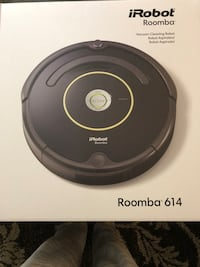 Roomba 614 for sale. Works great we just don't use it enough. Comes with an extra filter and original box. Does have a small scratch on top from bumping into furniture but otherwise great codition.  Nashville, 37076