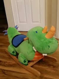 green dinosaur plush rocking chair Boisbriand, J7G 1H8