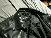 Large guess leather jacket  876 km