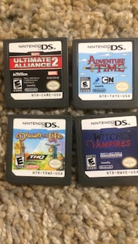 two Nintendo DS game cartridges
