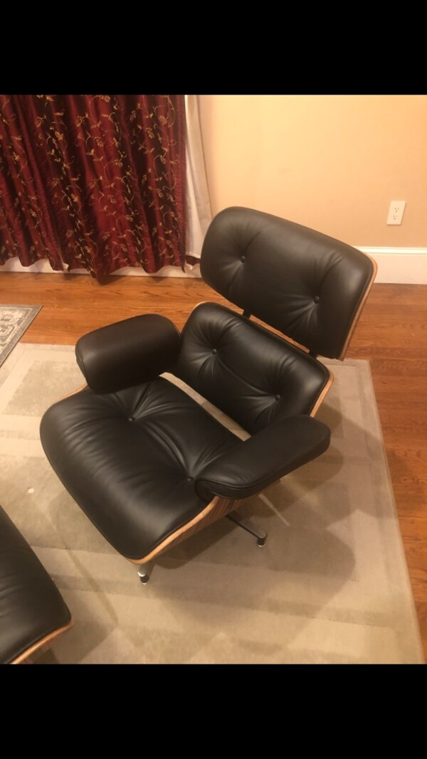 Cool Eames Style Chair With Ottoman 2 Chairs Matching Squirreltailoven Fun Painted Chair Ideas Images Squirreltailovenorg