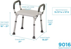 Quck Release Shower Chair without Back