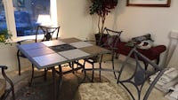 rectangular glass top table with four chairs Fairfax, 22030