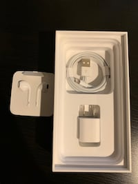 Apple headphones + charging cable Oakton