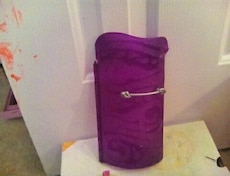 purple glass container