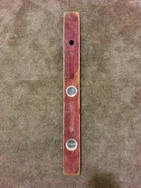 Vintage wooden level tool distressed
