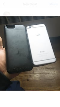silver iPhone 6 with black case Hagerstown, 21742
