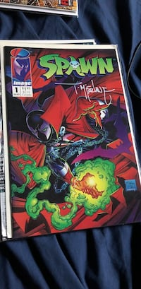 Spawn Comic signed by Tom Mcfarlane  New York, 10456