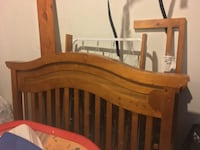 Crib, barely used. Converts to toddler bed and then full bed. Moss Landing, 95039