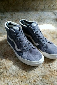 Grey and White Hi-Top Vans Faux Suede Morgan Hill, 95037