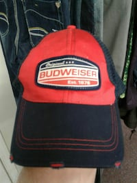 red and black Original Budweiser fitted cap Nanaimo, V9R 4P7
