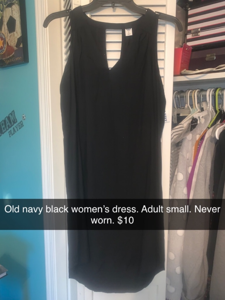 Photo Old navy black women's dress. Adult small. Never worn.