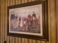 "Victorian polo painting 39""x29"" Millstone, 08510"