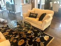 2 loveseats, Rug and glass table for sale Marlboro, 07746