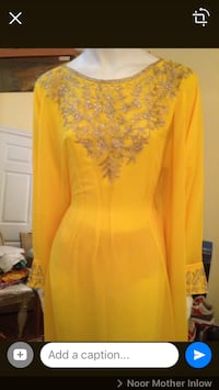 women's yellow floral long-sleeved dress Toronto, M4A