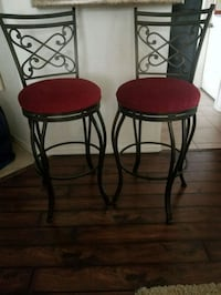 2 counter height swivel chairs