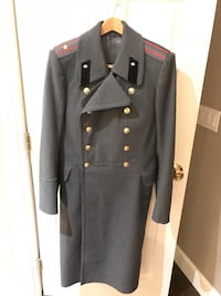 Authentic kgb uniform with regulation matching cap  gray leather trench coat Las Vegas, 89148
