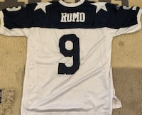 Authentic Reebok Throwback Tony Romo Dallas Cowboys Jersey Size 52 Mens L-XL  Clean and ready to wear or collect   Asking $35 (**new this jersey sold for $249.99 plus tax)
