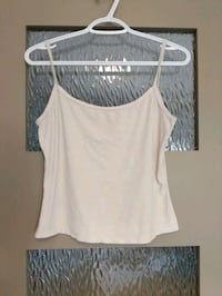 Le Chateau Beige faux suede tank top size small